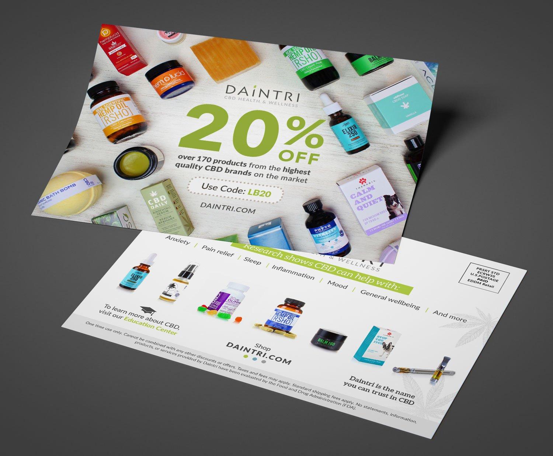 Daintri CBD Custom Design Print Marketing Materials